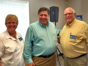 Cherryl and Carl Strathmann with J.B. Pritzker